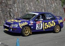 Corsa di Subaru Immagini Stock