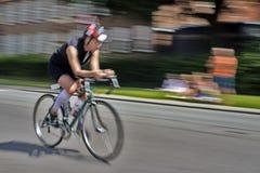 Corsa di triathlon Immagine Stock