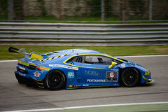 Corsa eccellente del ¡ n Trofeo di Lamborghini Huracà a Monza Immagini Stock
