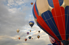 Corsa il 12 settembre 2009 dell'aerostato di aria calda di Reno Fotografia Stock