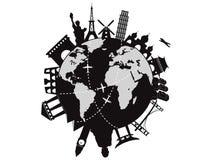 Corsa intorno al mondo Fotografia Stock Libera da Diritti