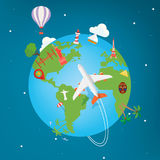 Corsa intorno al mondo royalty illustrazione gratis