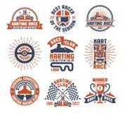 Corsa Logo Emblem Set del motore di Karting Fotografie Stock Libere da Diritti