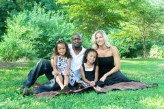 corsa mixed della famiglia fotografia stock libera da diritti