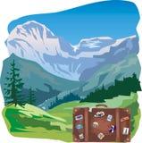 Corsa - montagne Illustrazione di Stock