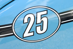Corsa numero 25 Fotografia Stock