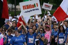 Corsa per una cura per l'Italia immagini stock