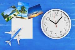 Corsa in Plane Ricorso tropicale Pubblicità della società Prenotazione di hotel fotografia stock