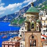 Corsa in serie dell'Italia - Amalfi immagine stock
