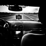 Corsa Sguardo artistico in bianco e nero Fotografia Stock