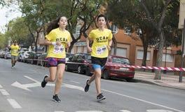 Corsa solidale a Murcia, il 24 marzo 2019: Prima corsa di solidarietà sulle vie di Murcia in Spagna fotografie stock libere da diritti