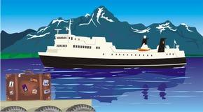 Corsa - sul porto Illustrazione di Stock