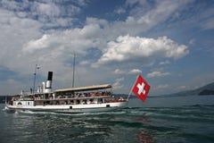 Corsa svizzera del lago Immagine Stock Libera da Diritti