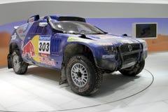 Corsa Touareg - di Volkswagen salone dell'automobile 2010 di Ginevra Immagine Stock Libera da Diritti