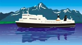 Corsa - traghetto Royalty Illustrazione gratis
