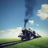 Corsa in treno del vapore Fotografia Stock Libera da Diritti