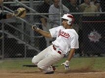 Corsa vincente della tazza del Canada di baseball Fotografie Stock Libere da Diritti