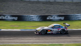 Corsaen BMW Z4 för TWS LM av LM-corsaen i GT300 springer på Burirum, Thail Royaltyfri Fotografi