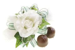Corsage and Chocolate Royalty Free Stock Images