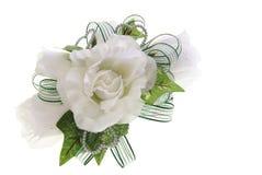 Corsage da flor da tela Fotografia de Stock Royalty Free