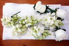 Corsages blancs de mariage photo libre de droits