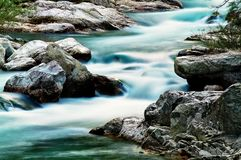 Corsaglia creek, in Corsaglia valley, Italy. stock photo