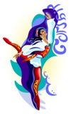 corsair baletniczy tancerz ilustracji