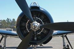 Corsair Prop. Closeup of Corsair engine and prop stock photo