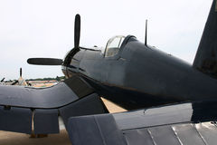 Corsair WWII plane. At airshow royalty free stock photography