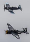 Corsario y vengador en vuelo Fotografía de archivo libre de regalías