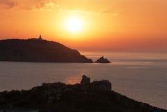 Corse захода солнца Стоковые Изображения RF