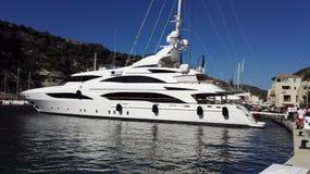 Corse Bonifacio jachtu łódź Zdjęcia Stock