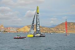 Corse 2014 - dell'oceano di Volvo Team Brunel 2015 Immagini Stock Libere da Diritti