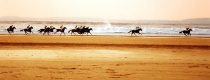 Corse della spiaggia Fotografie Stock