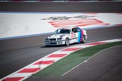 Corse di addestramento dell'automobile ad alta velocità Fotografia Stock