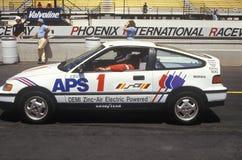 500 corse di automobile solari ed elettriche, AZ Fotografia Stock