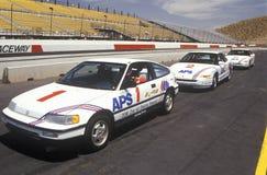 500 corse di automobile solari ed elettriche, AZ Immagine Stock