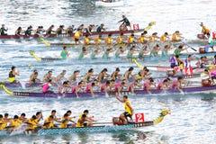 Corse di barca del drago di Hong Kong Int'l 2012 Fotografia Stock
