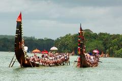 Corse di barca del serpente del Kerala Fotografia Stock Libera da Diritti