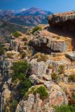Corse-du-Sud vertical mountain landscape. South region of Corsica island, France. Piana region Royalty Free Stock Photo