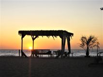 Corse solnedgång Arkivbilder