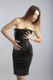 Corset. Nifty model with perfect figure in stylish corset stock image