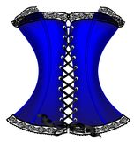 corset bleu Photographie stock libre de droits