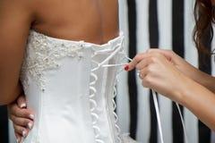 Corset bride Stock Image