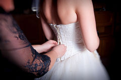 Corset bride Royalty Free Stock Images
