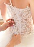 Corset de robe de mariage Photo libre de droits