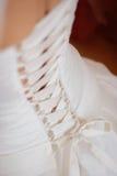 Corset de robe de mariage Photo stock