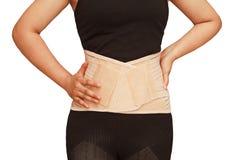 corset lombaire de support, pour le truma arrière Image libre de droits