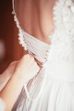 Corset wedding dress Royalty Free Stock Images