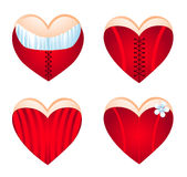 Corseted heart, icon set. Stock Photo